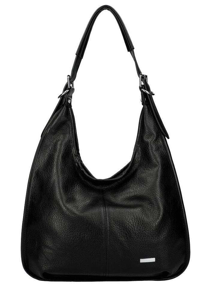 Moderná veľká kabelka cez rameno 6339 čierna