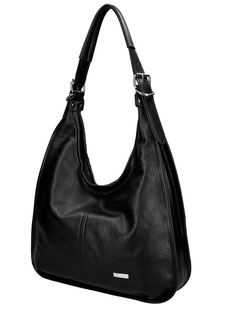 Moderní velká kabelka přes rameno 6339 černá
