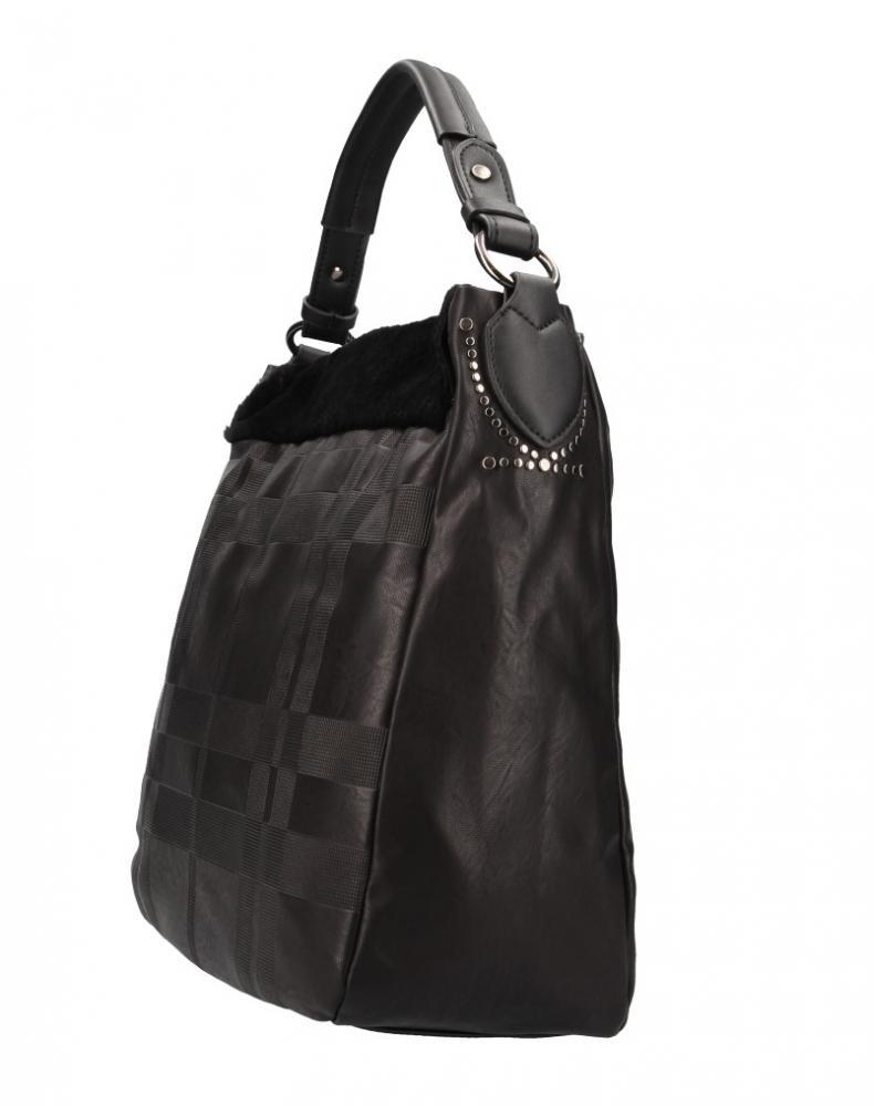 Kombinovaná velká dámská kabelka Tommasini černá