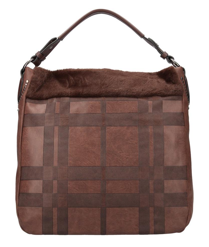 Kombinovaná velká dámská kabelka Tommasini kávová hnědá