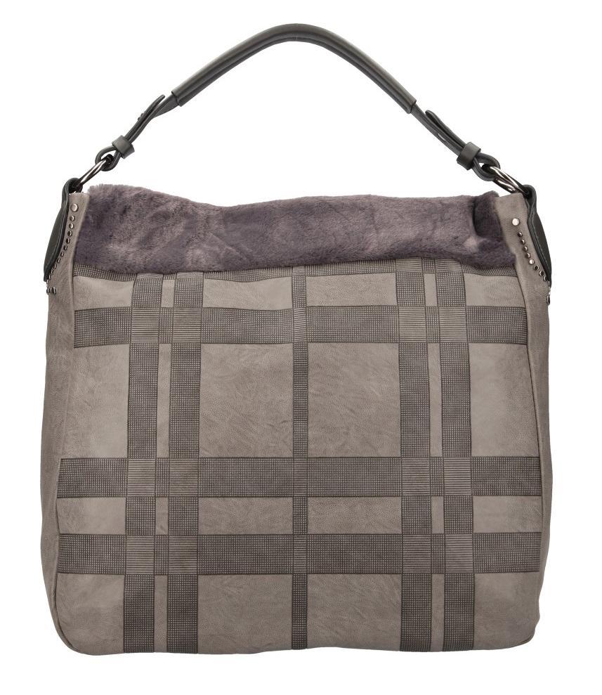 Kombinovaná veľká dámska kabelka Tommasini šedá