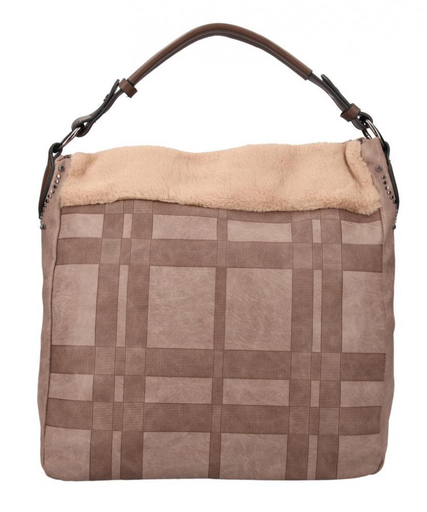 Kombinovaná veľká dámska kabelka Tommasini prírodná hnedá
