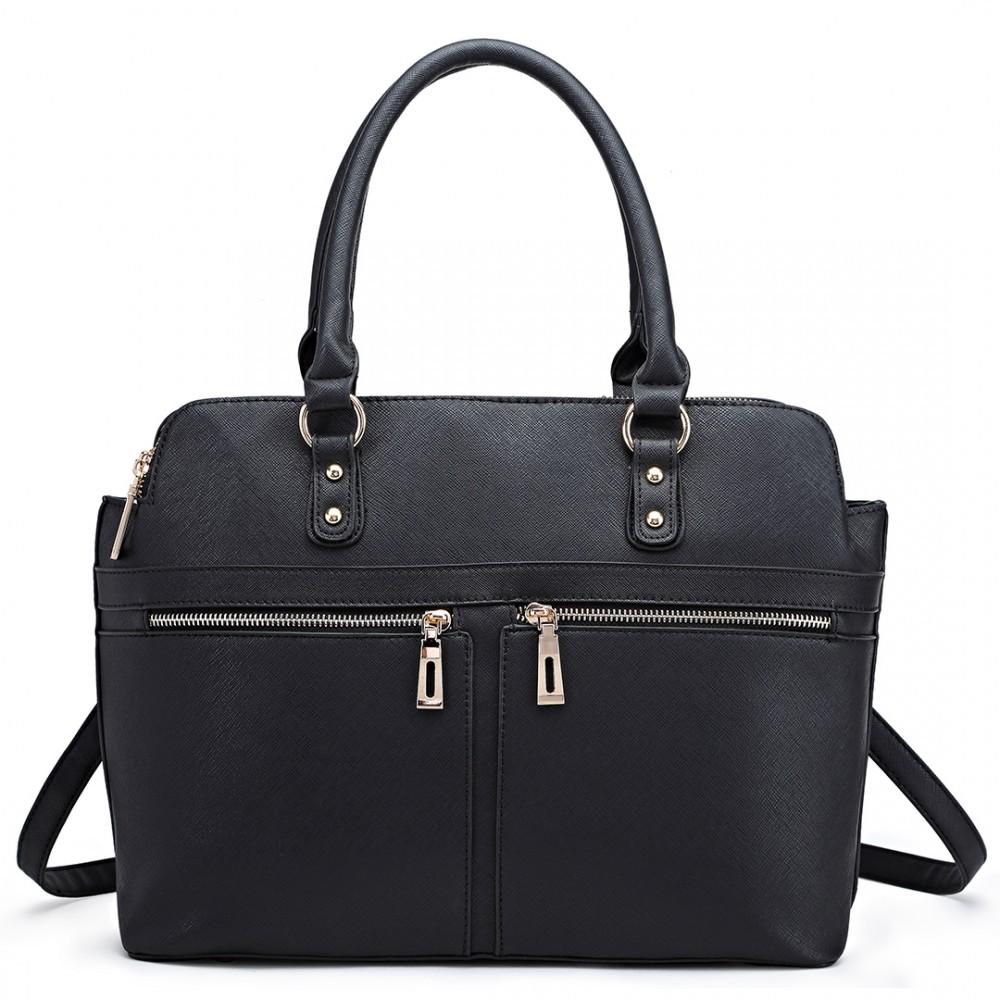 Čierna veľká business kabelka Miss Lulu