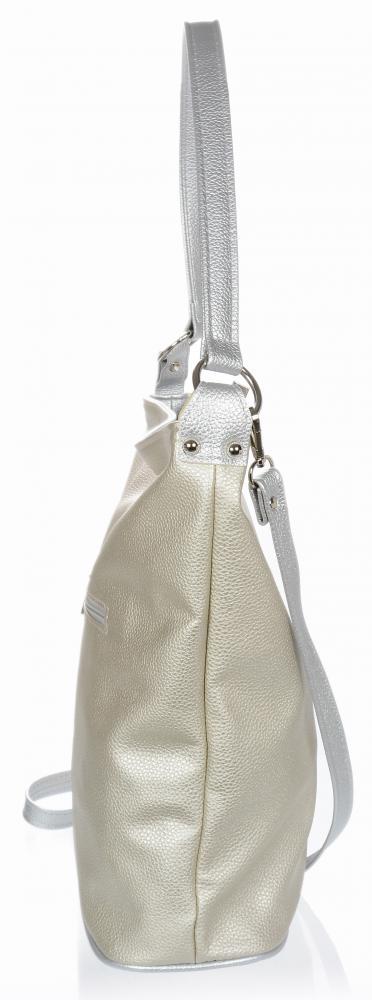 Velká zlato-stříbrná dámská kabelka přes rameno S584 GROSSO