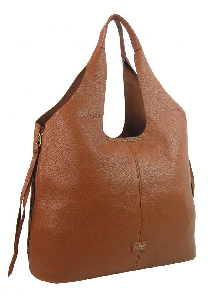 Moderná hnedá dámska kabelka cez plece 5064-TS
