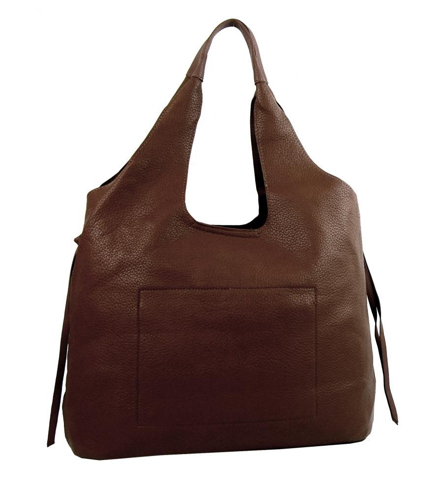Moderní tmavě hnědá dámská kabelka přes rameno 5064-TS