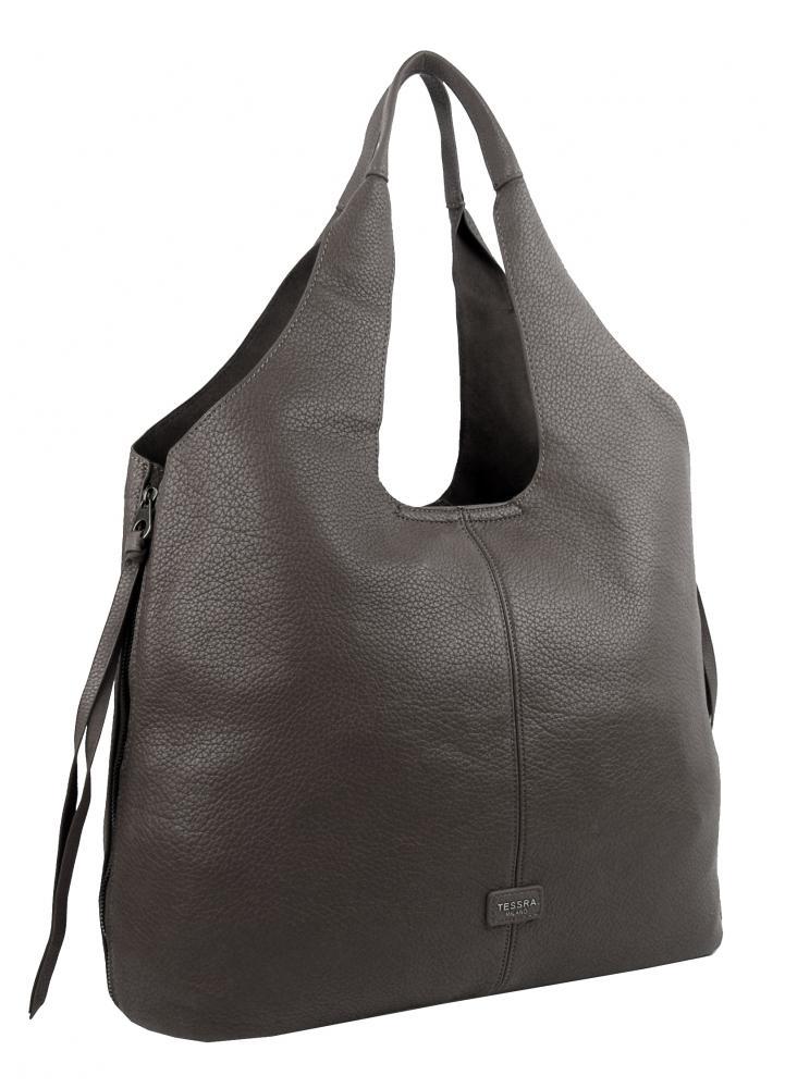 Moderná tmavšia šedá dámska kabelka cez plece 5064-TS