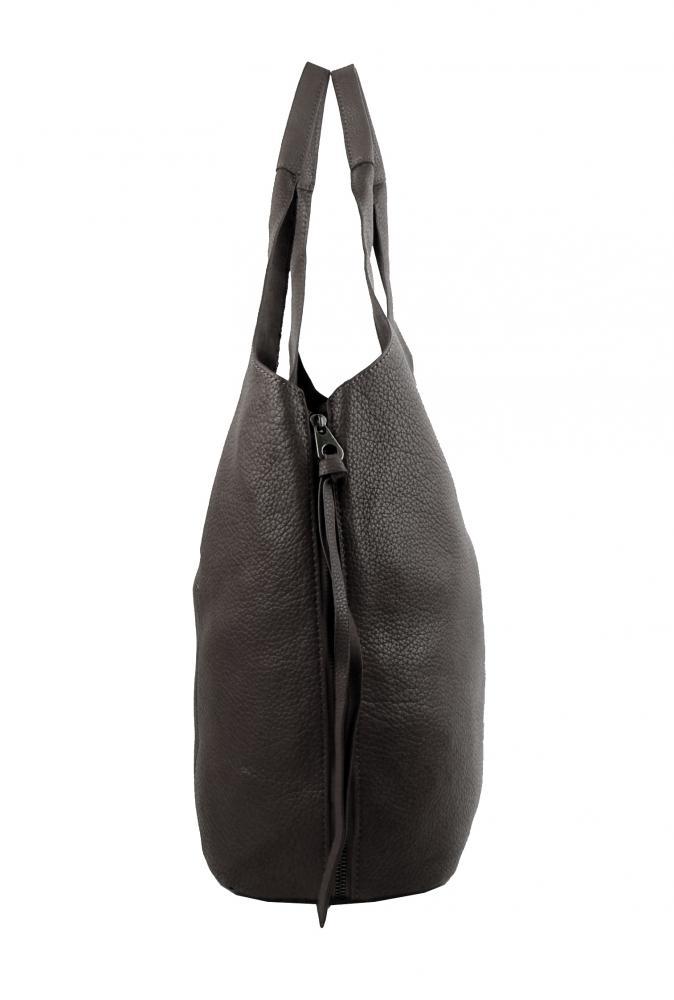 Moderní tmavší šedá dámská kabelka přes rameno 5064-TS