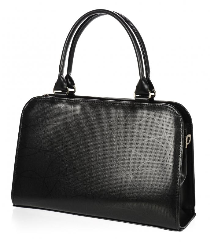 Černá elegantní dámská kabelka s mašlí S411 GROSSO