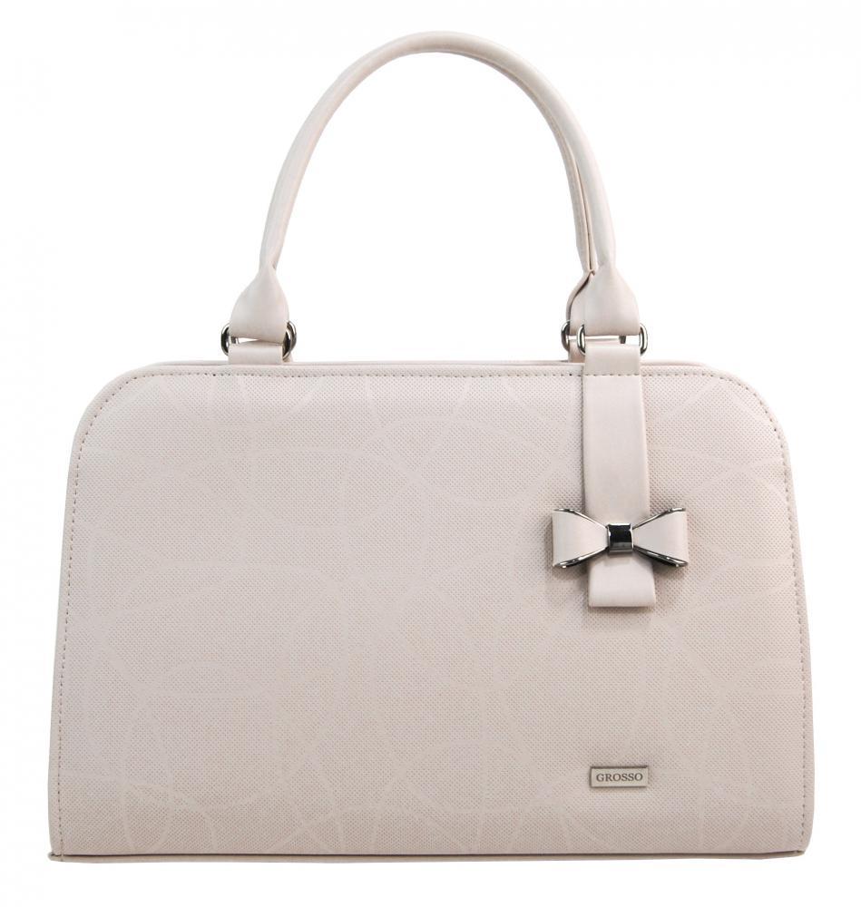 Pudrová elegantní dámská kabelka S411 GROSSO