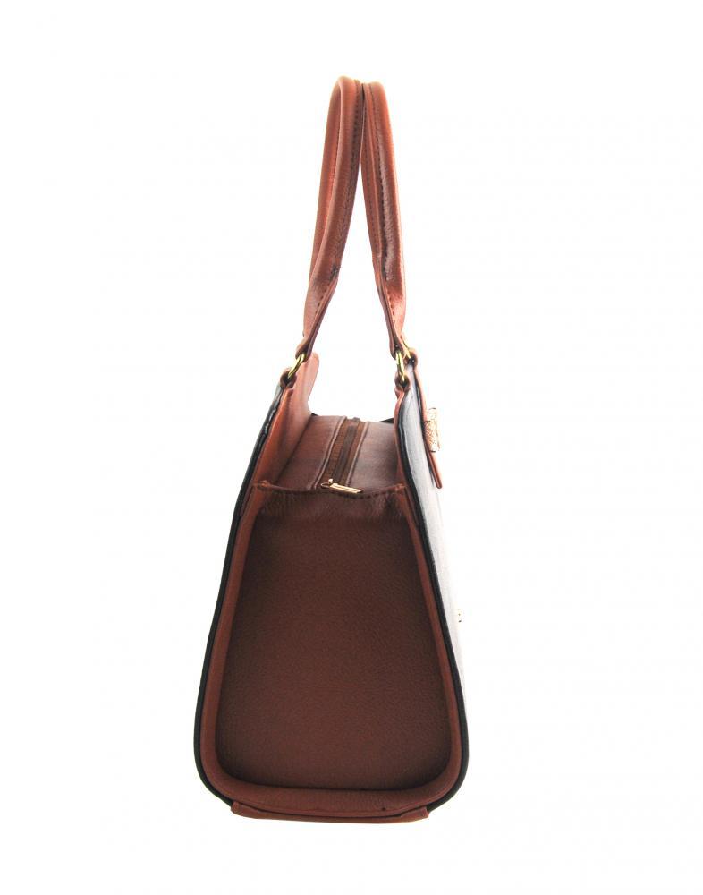 Hnědo-skořicová elegantní dámská kabelka S411 GROSSO