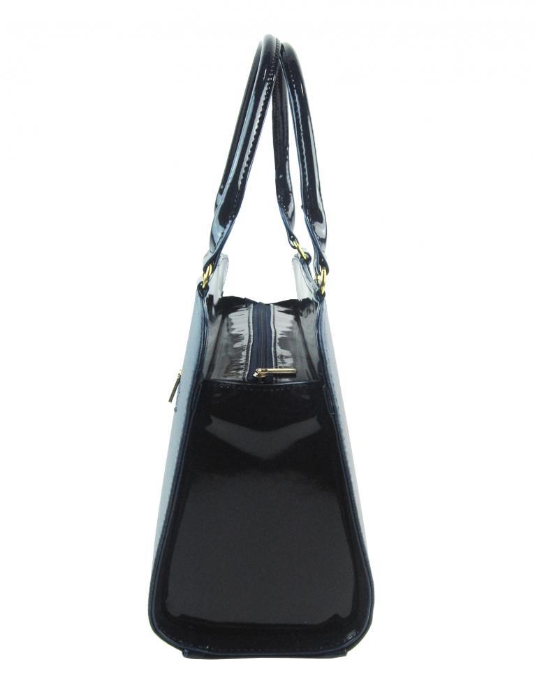 Modro-černá elegantní dámská kabelka S411 GROSSO