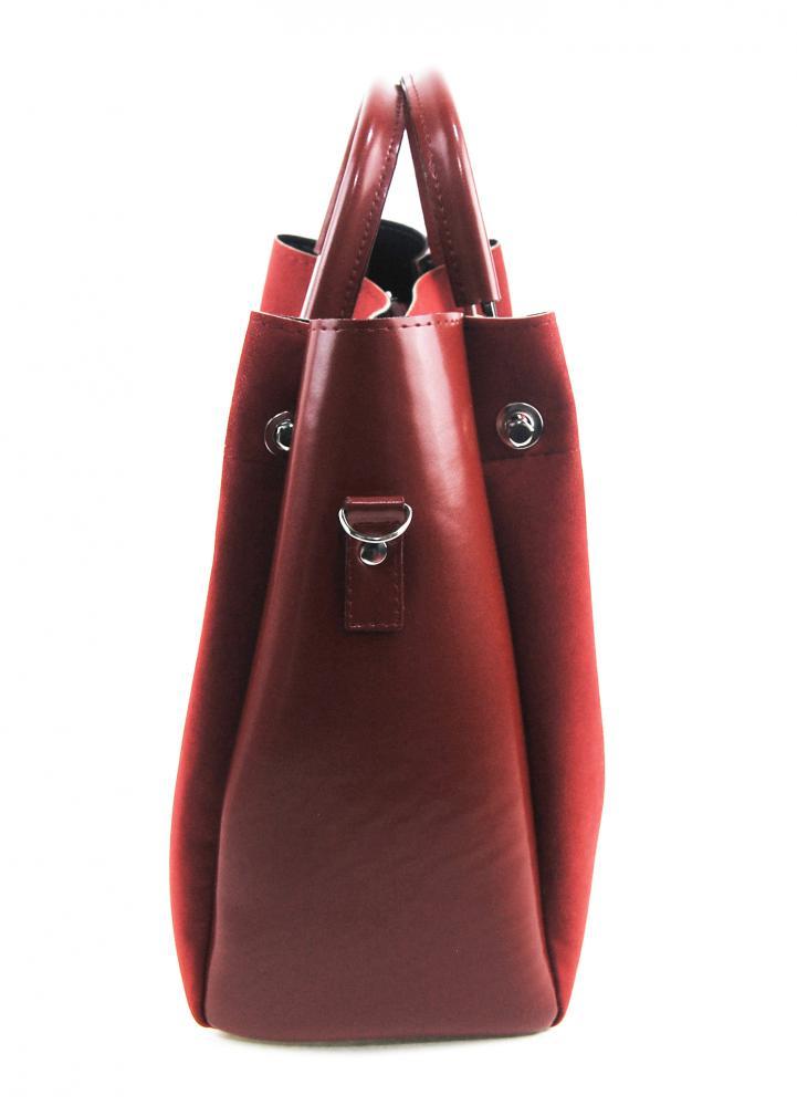 Elegantní dámská kabelka S728 červeno-bordová GROSSO