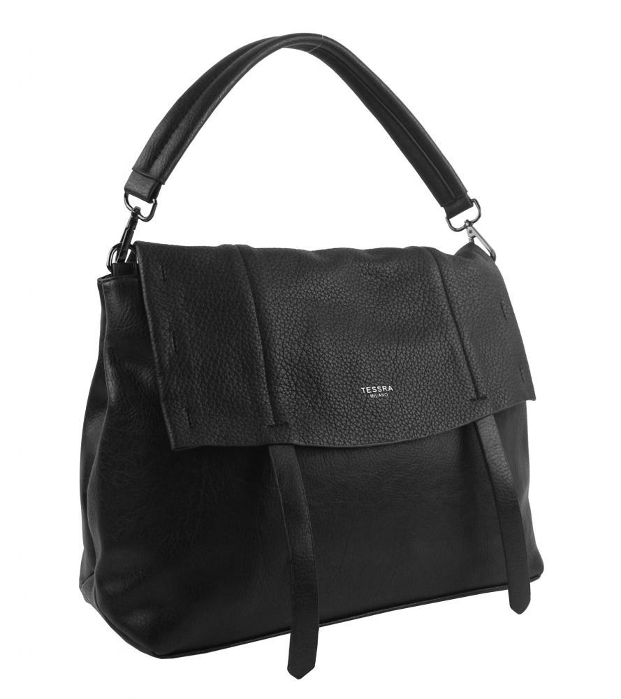 Černá dámská kabelka do ruky / přes rameno / crossbody 5043-TS