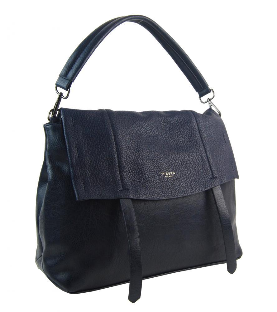 Modrá dámská kabelka do ruky / přes rameno / crossbody 5043-TS