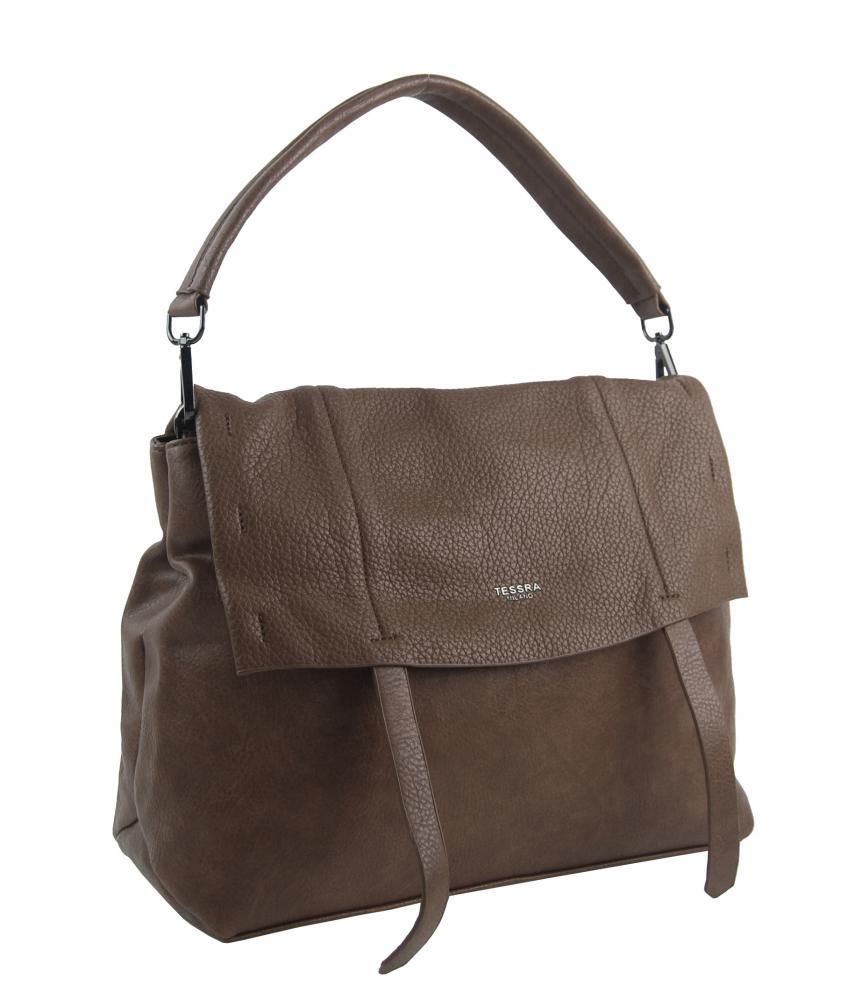 Přírodně hnědá dámská kabelka do ruky / přes rameno / crossbody 5043-TS