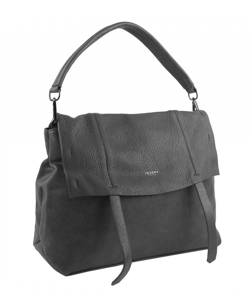 Šedá dámská kabelka do ruky / přes rameno / crossbody 5043-TS