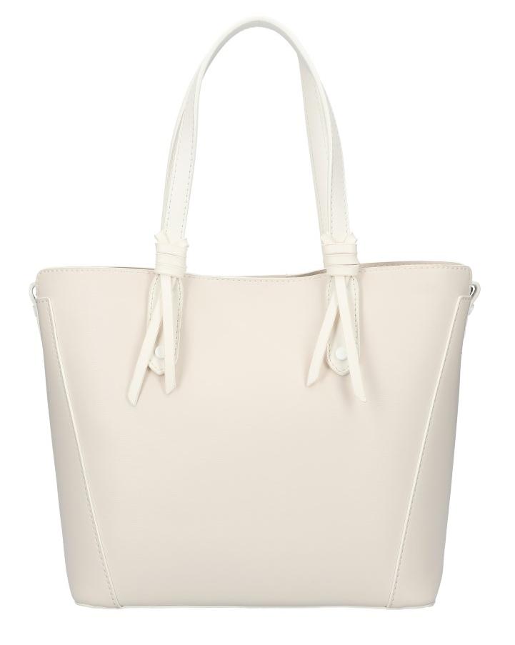 VALENTINA MADRID Smetanová dámská kabelka s bílými lemy