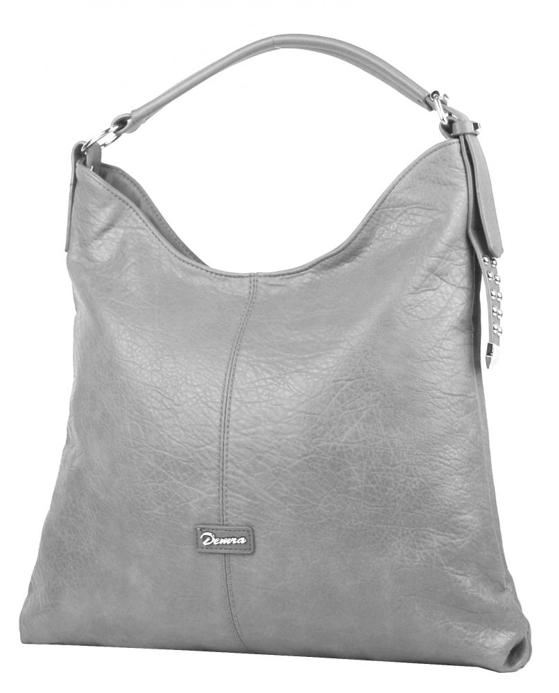 Moderní velká šedá kombinovaná dámská kabelka 3753-DE