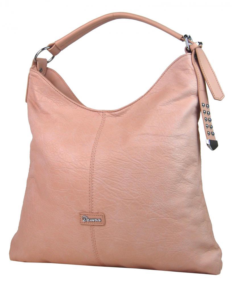 328a561425 Moderná veľká ružová kombinovaná dámska kabelka 3753-DE
