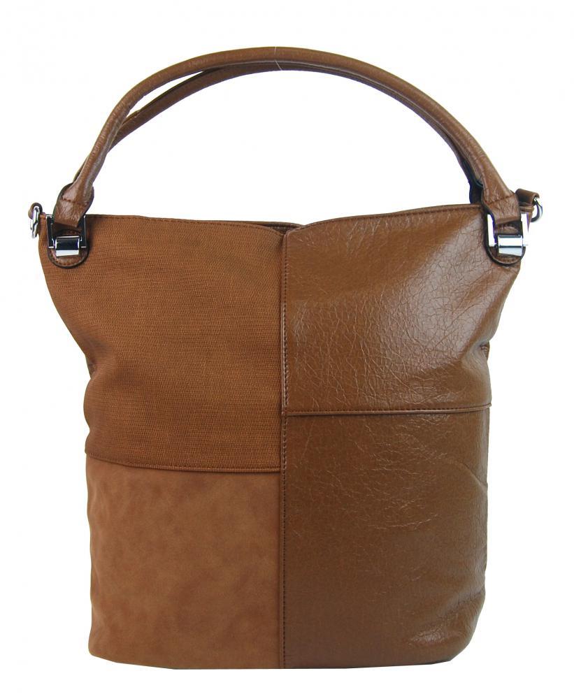 Kombinovaná dámská kabelka NH8028 hnědá