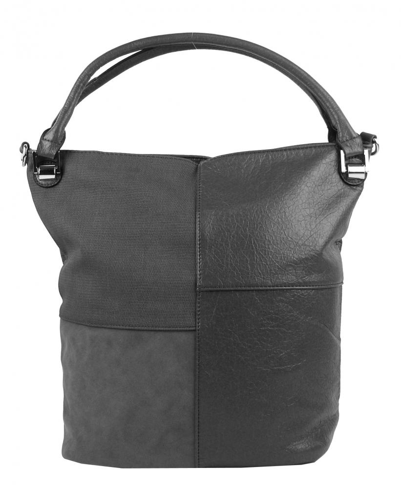 Kombinovaná dámska kabelka NH8028 tmavo sivá