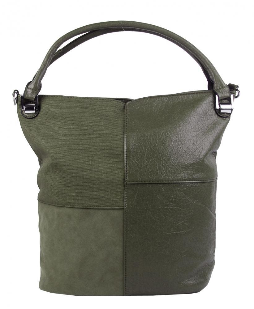 57bd39fe2e Kombinovaná dámská kabelka NH8028 zelená