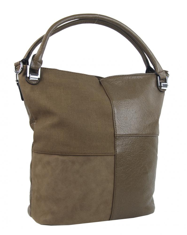 Kombinovaná dámska kabelka NH8028 jílovo hnedá