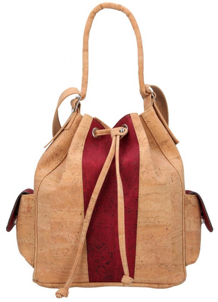 Korková vínová dámska kabelka