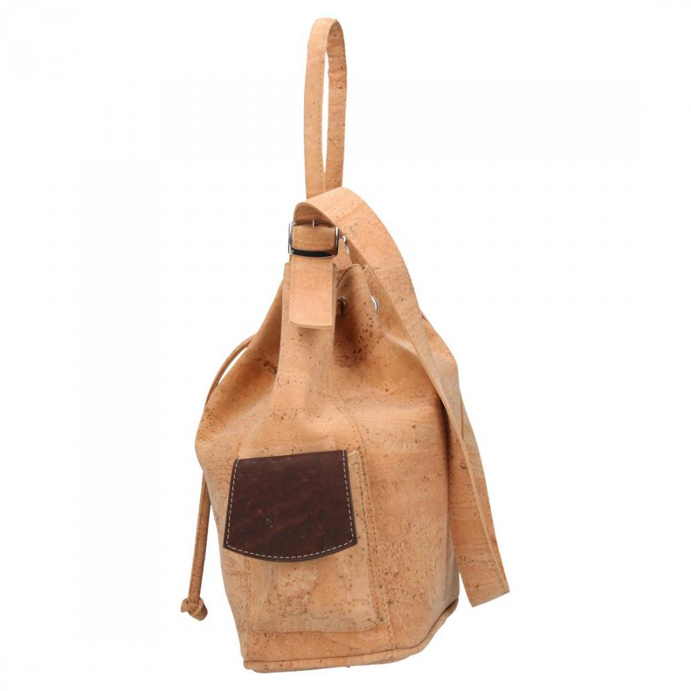 Korková mahagónová dámska kabelka