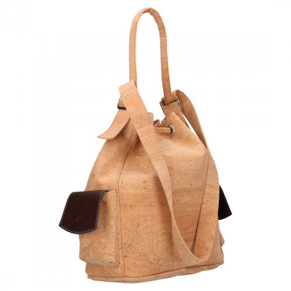 Korková mahagonová dámská kabelka