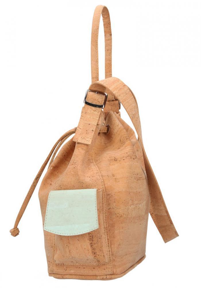 Korková mentolovo zelená dámska kabelka