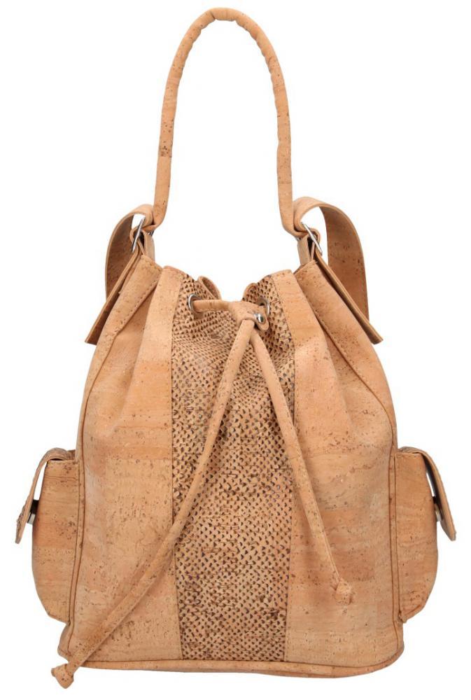 Korková přírodní dámská kabelka