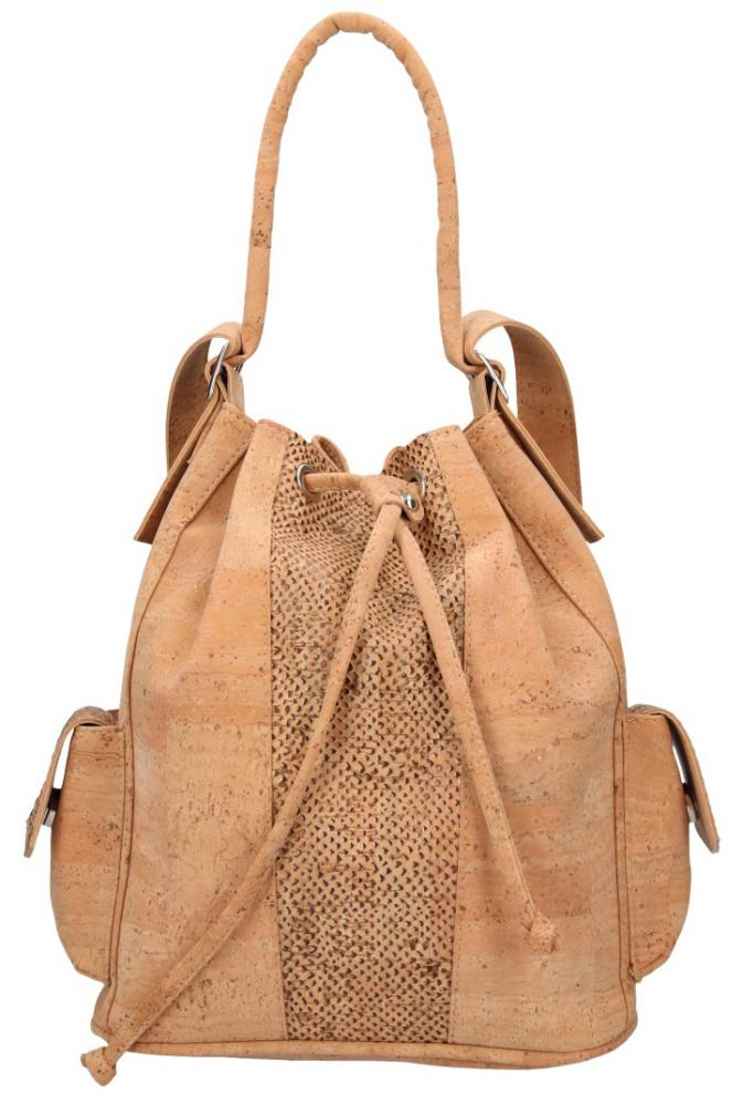 Korková prírodná dámska kabelka