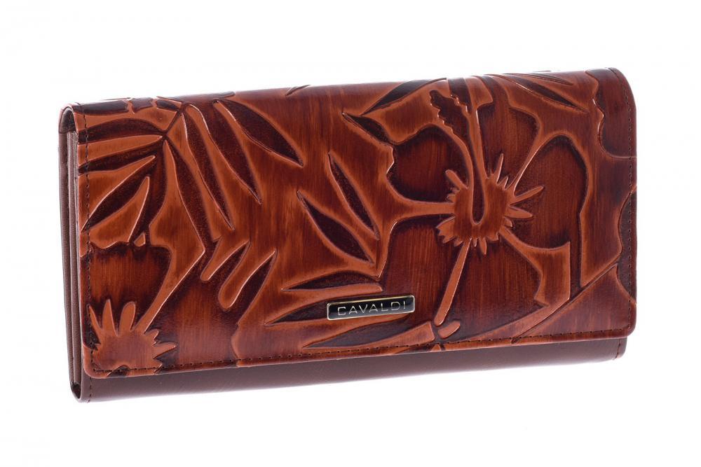 Cavaldi hnedá dámska kožená peňaženka v darčekovej krabičke