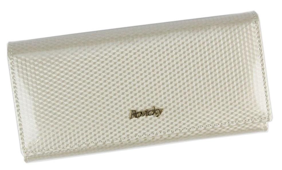 Rovicky béžová dámska kožená peňaženka RFID v darčekovej krabičke