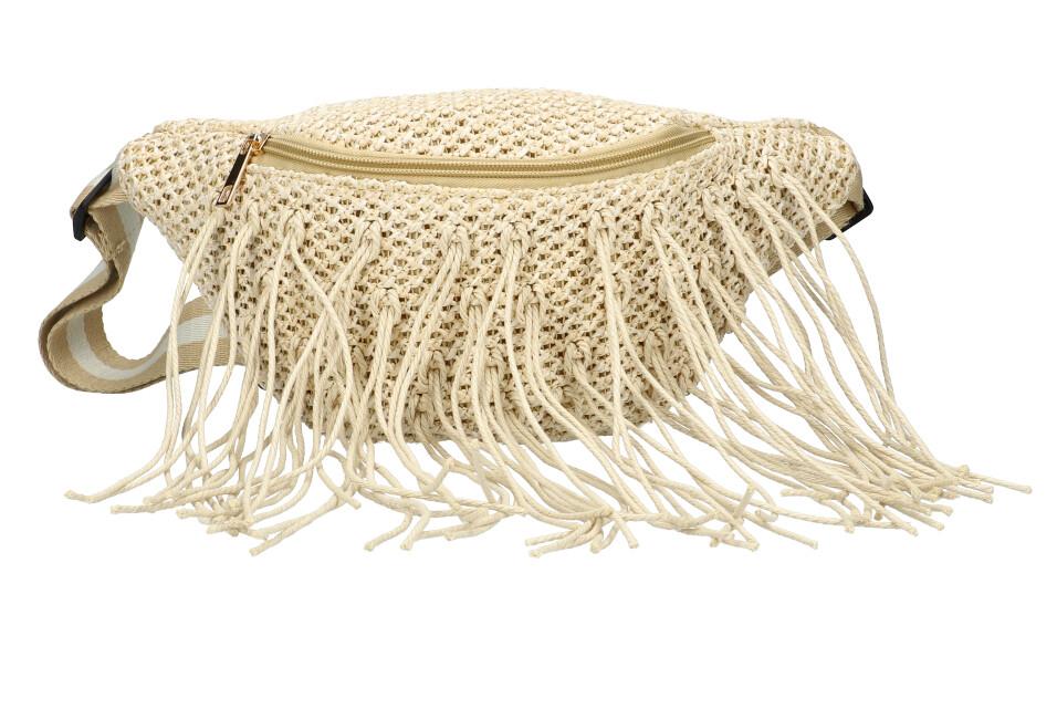Béžová dámská pletená ledvinka