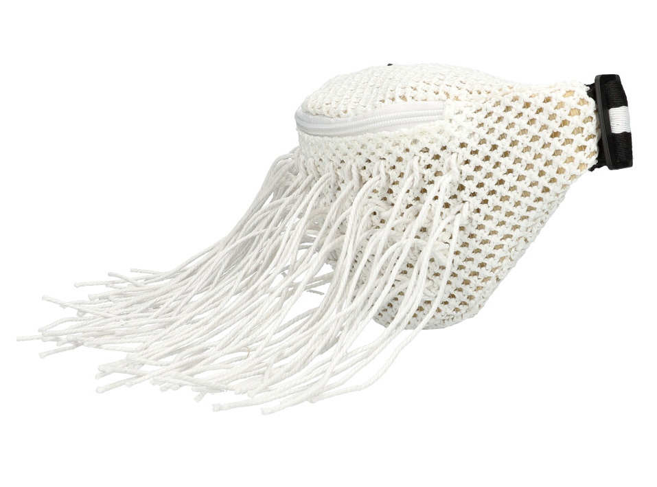 Bílá dámská pletená ledvinka