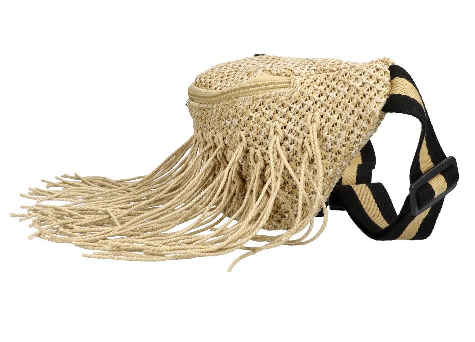 Přírodní režná dámská pletená ledvinka