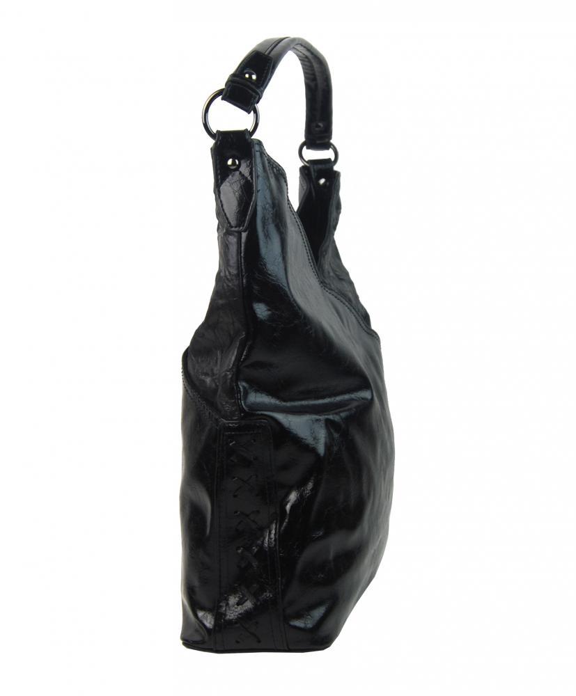 Moderní dámská kabelka přes rameno 5140-BB černá