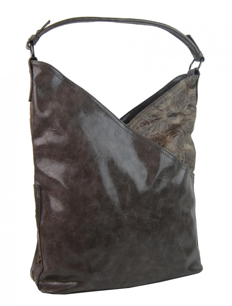 Moderní dámská kabelka přes rameno 5140-BB přírodní hnědá