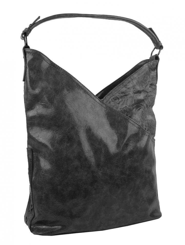 Moderná dámska kabelka cez plece 5140-BB tmavšia šedá