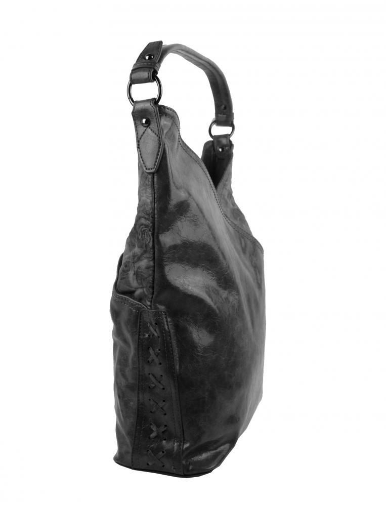 Moderní dámská kabelka přes rameno 5140-BB tmavší šedá