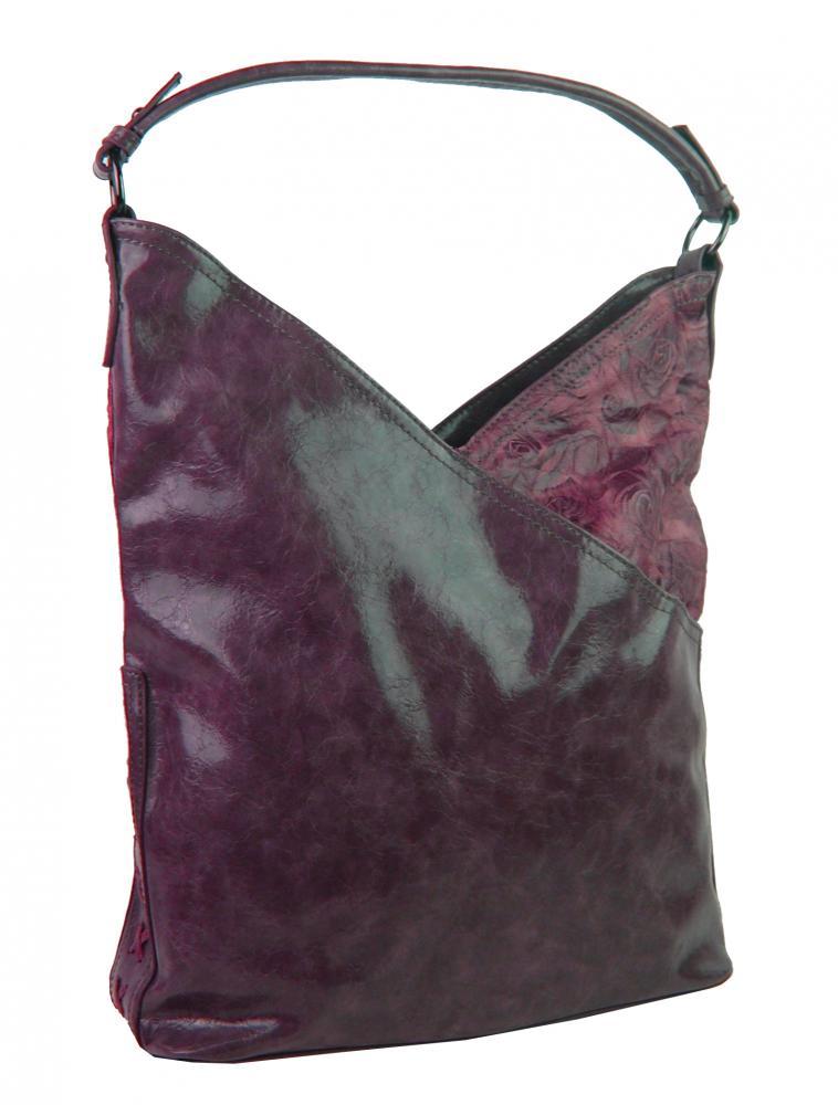 Moderní dámská kabelka přes rameno 5140-BB vínová