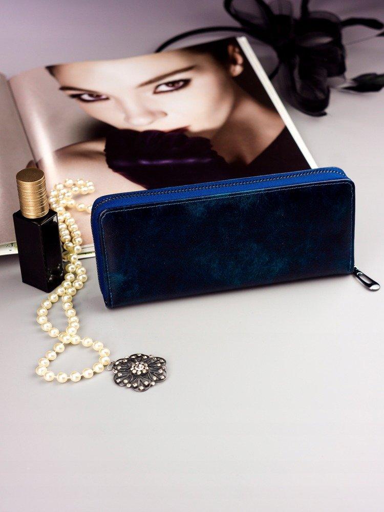 Cavaldi modrá dámska peňaženka koža / PU v darčekovej krabičke