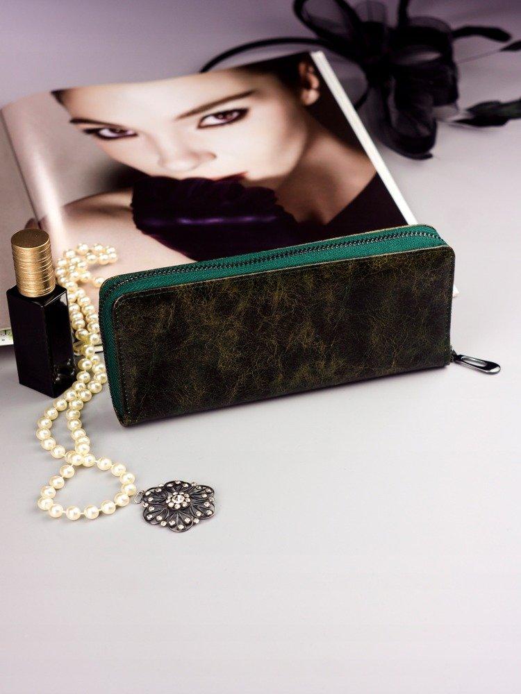Cavaldi zelená dámska peňaženka koža / PU v darčekovej krabičke