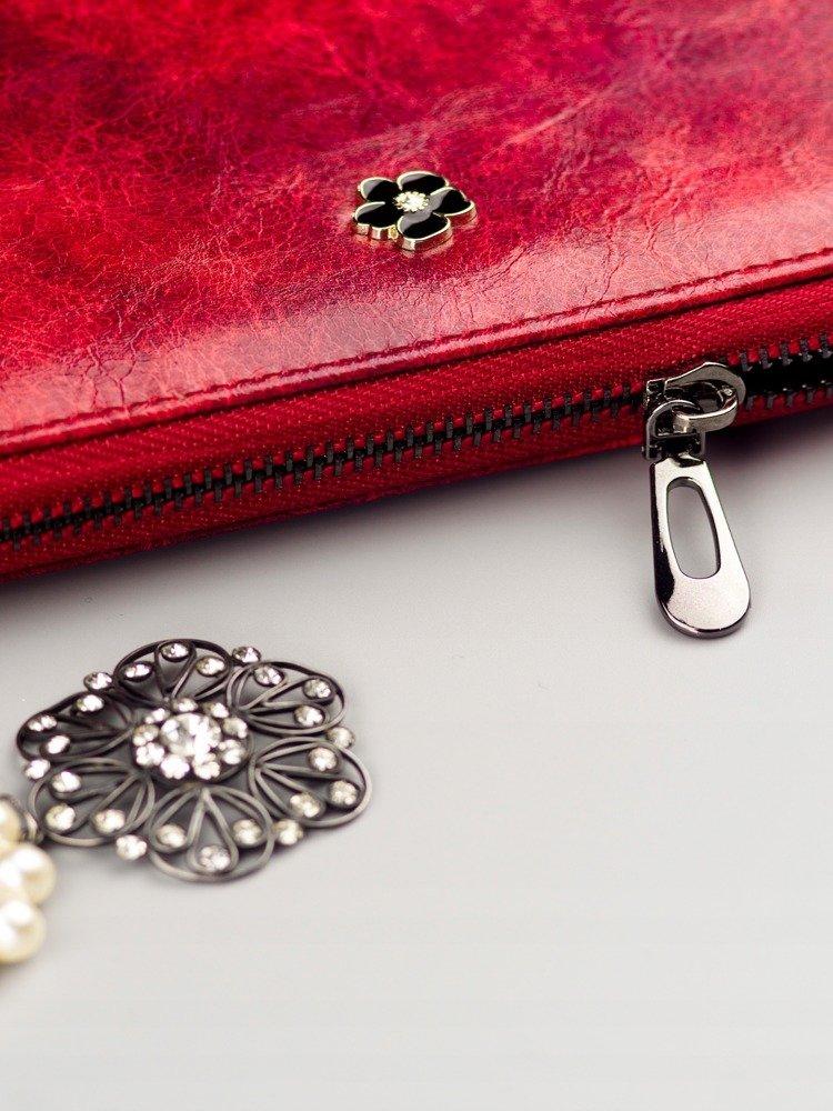 Cavaldi červená dámska peňaženka koža / PU v darčekovej krabičke