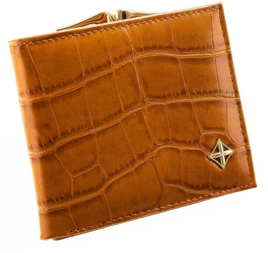 Camel hnědá kroko dámská peněženka v dárkové krabičce MILANO DESIGN