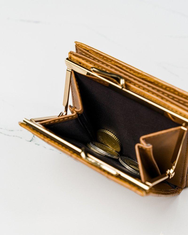 Camel hnedá kroko dámska peňaženka v darčekovej krabičke MILANO DESIGN