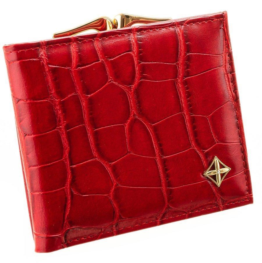 Červená kroko dámská peněženka v dárkové krabičce MILANO DESIGN